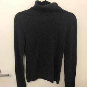 BRAND NEW 100% cashmere grey turtleneck- very soft